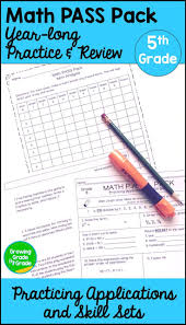 5th grade math spiral review math practice worksheets math and