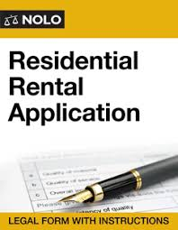 residential rental application online legal form nolo