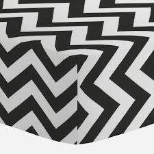 black and white zig zag mini crib sheet carousel designs