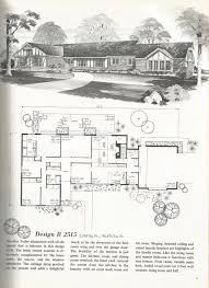 vintage house plans mid century homes good old house