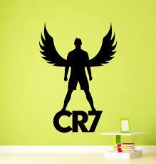 cristiano ronaldo wall vinyl decal real madrid cr7 sticker zoom