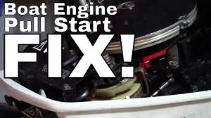 johnson evinrude outboard pull start recoil repair how to fix