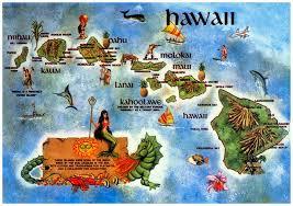 Map Hawaii Online Maps Hawaii Postcard Maps