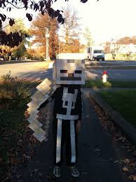 Minecraft Herobrine Halloween Costume Minecraft Skeleton Costume Google Ideas