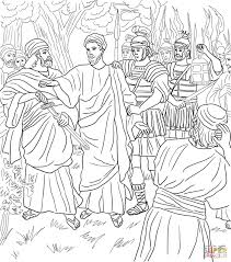 palm sunday coloring pages 4 jesus arrested in the garden of gethsemane coloring page jpg
