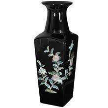 Black Square Vases Porcelain Vases