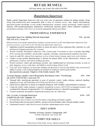 Sle Resume For Assistant Manager In Retail by Resume For Assistant Store Manager Free Resume Exle And