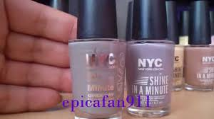 npreview sjm u0027s nyc shine in a minute nailpolish review with