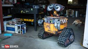 6 Real Work From Home Making A Real Life Size Wall E Robot Geek Week Youtube