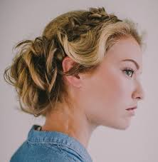 curly hair in high bun with bang 40 creative updos for curly hair