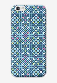 blue multicolour jali iphone case india design store