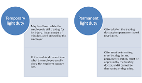 More About Light Duty Work Nevada Workers Compensation Law Blog