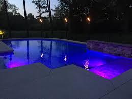 Custom Landscape Lighting by Baker Pool Construction St Louis Custom Pool Lighting
