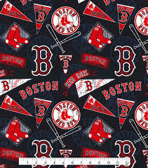 Boston Red Sox Home Decor by Boston Red Sox Cotton Fabric 58