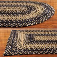 ebony black and tan jute braided area rug walmart com