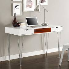 48 Office Desk Sleek 48 Modern White Office Desk With Orange Accents
