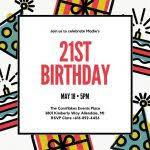 bday invitation template best 25 birthday invitation templates