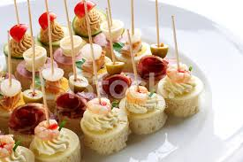 m fr canapes different sort of canape for a self service buffet stock photos