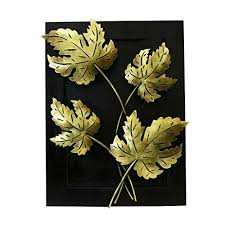 saarthi handmade leaf design wall hanging frame wall decor