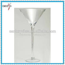 Tall Champagne Glass Vases Long Stemmed Unique Tall Clear Martini Glass Vases Centerpieces