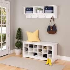 prepac entryway shoe storage cubbie bench white wss 4824