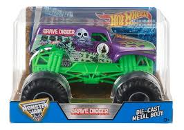 monster truck jam toys amazon com wheels monster jam grave digger truck purple