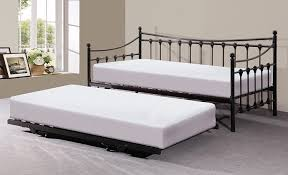 memphis 3ft single day bed with trundle ivory or black black