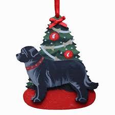 decorated tree u0026 newfoundland dog ornament brown ornament dog