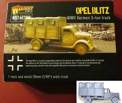 german opel blitz truck opel blitz 3 ton truck model warlord games bolt action wwii 28mm