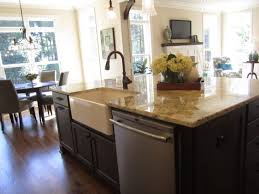 Kitchen Island With Sink And Dishwasher And Seating 85 Creative Outstanding Kitchen Island Sink Cool With And