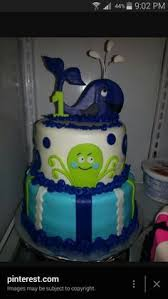 boys first birthday whale with waves cake so cute levi u0027s first