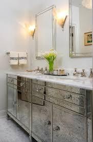 Bathroom Vanities Mirror Inspiring Mirrored Bathroom Vanity Horchow With 4 Cabinet Legs