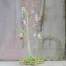 small easter tree and ornaments set and easter crafts