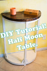 how to make a half moon rustic entryway table youtube