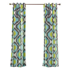 Green And Blue Curtains Geometric Curtains Geometric Pattern Curtains Quatrefoil Curtains