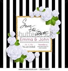 save date card rose vector eps stock vector 394115725 shutterstock