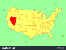 Map Of Usa Blank by Nevada State Usa Vector Map Isolated Stock Vector 303923279