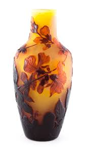Galle Vase Genuine Galle Apple Blossom Cameo Vase U2013 The French Glasshouse