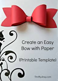 printable paper bow template make your own package decorations