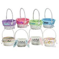 personalized wicker easter baskets easter basket etsy