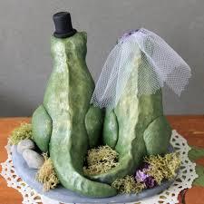 dinosaur wedding cake topper custom t rex dinosaur wedding cake topper