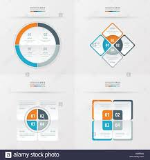 Blue Gray Color Set Of Presentation Template Orange Blue Gray Color Stock