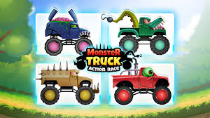 bigfoot monster truck cartoon monster trucks action race tinylabkids