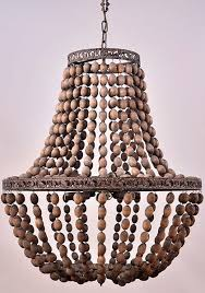 Beaded Wood Chandelier Dauphine Wood Empire Chandelier Love This Homey Home