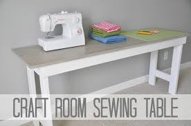Diy Sewing Desk Craft Room Sewing Table Tutorial Decor And The