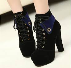 womens boots heels black high heels ankle boots