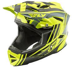 thh motocross helmet default hi vis black helmet fly racing motocross mtb bmx