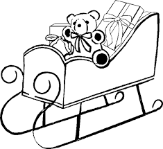santa sleigh coloring pictures santa coloring pages kids