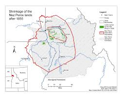 Joseph Oregon Map by Remembering The Past Nez Perce Wallowa Homeland