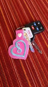 infinity love infinity heart keychain aqua heart neon pink heart infinity